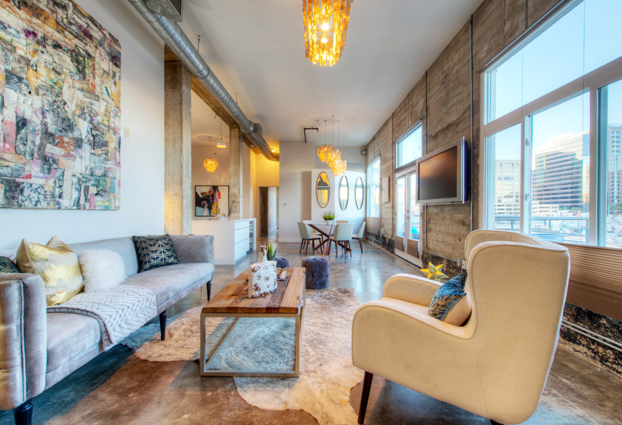 Elite austin interior design texas eclectic loft cover elite austin Home furniture rental austin texas