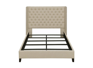transitional upholstered bed