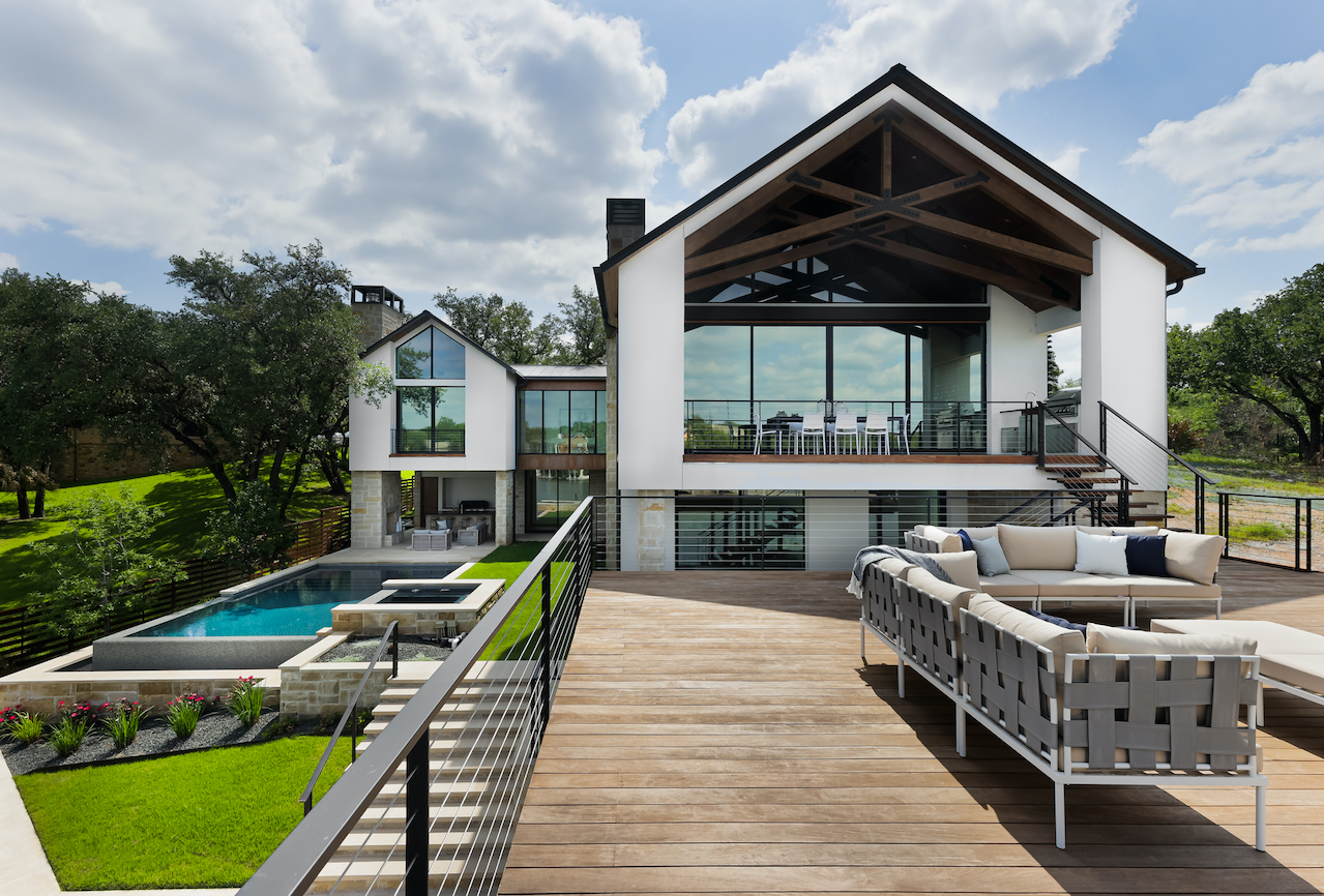 Horseshoe Bay Home Exterior Patio staged by Elite Austin