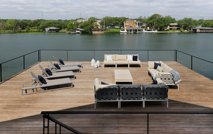 Horseshoe Bay Home Outdoor Upper Deck staged by Elite Austin