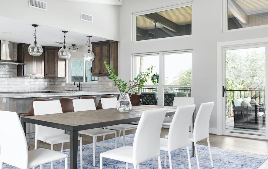 Horseshoe Bay Home Dining Room staged by Elite Austin