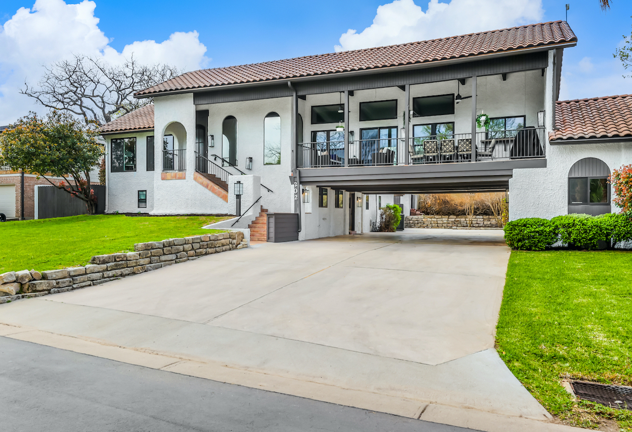 Horseshoe Bay Home Exterior staged by Elite Austin