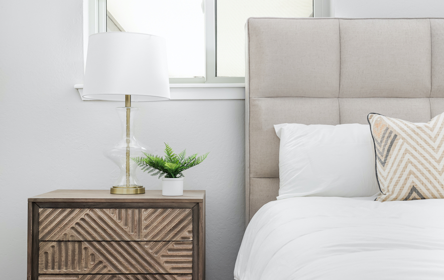 Horseshoe Bay Home Guest Bedroom Staged by Elite Austin
